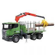 Zabawka ciężarówka do przewozu drewna z żurawiem Scania LKW