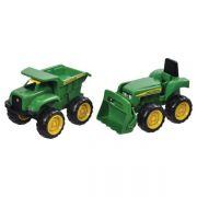 Zabawka Tomy mini ładowarka John Deere + mini wywrotka JD Big Scoop
