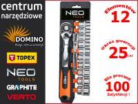"""Zestaw kluczy nasadowych 1/2"""" 12el NEO 08-654"""