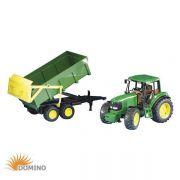 Traktor John Deere 6920 z przyczepą samorozładowczą
