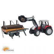 Traktor Steyr CVT 170 z ładowarką i przyczepą do drewna