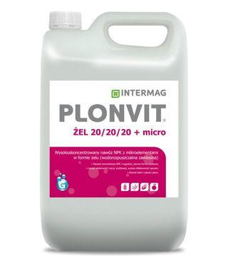 PLONVIT ŻEL 20/20/20 5L INTERMAG Nawóz z mikroelementami w formie żelu