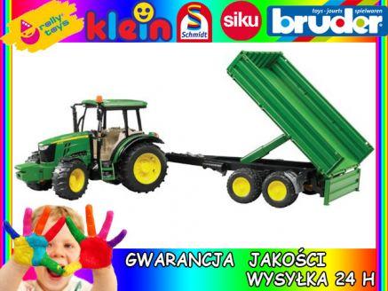 John Deere 5115M traktor z przyczepą 02108 BRUDER