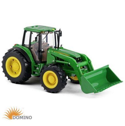 Traktor Big Farm John Deere 6830 z bliźniaczymi oponami i ładowaczem