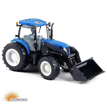 Traktor Big Farm New Holland T7050 z ładowaczem i bliźniaczymi kołami