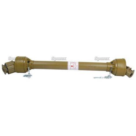 Wałek odbioru mocy-kompletny, (Lz) Długość: 750mm, 1 3/8 x 6 Bolec Q/R to 1 3/8 x 6 Sprzęgło jednoki